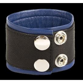 Kiotos Bracelet de Force en Cuir 5cm Noir-Bleu