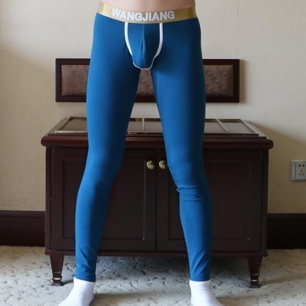 Longjohn Coton Bleu