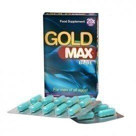Gold Max: stimulant sexuel homme Gold Max Blue 20 gélules
