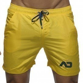 Addicted Short de bain Swim Long Jaune