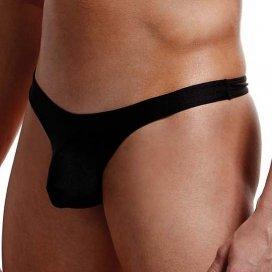 String Taille Basse Noir