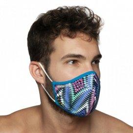 Addicted Masque alternatif Graphic Bleu