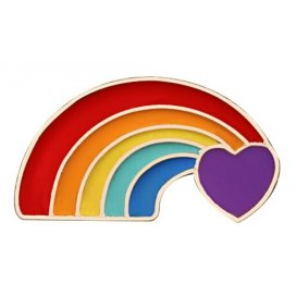 Pin's COEUR ARC-EN-CIEL Rainbow