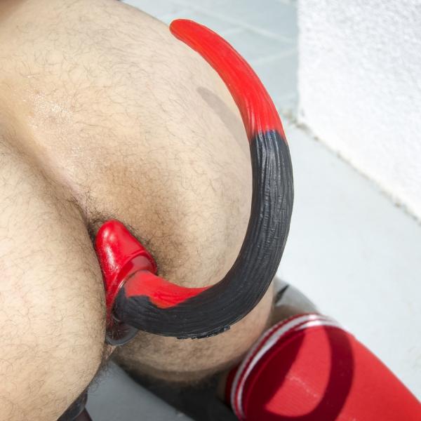 Plug Queue Puppy Tail Bulldog 11.5 x 6 cm Rouge