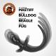 Plug Queue Puppy Tail Bulldog 11.5 x 6 cm Blanc