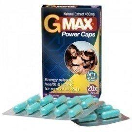Gold Max: stimulant sexuel homme G Max Power Caps 20 gélules