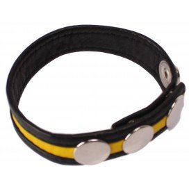 Cockring Cuir Jaune