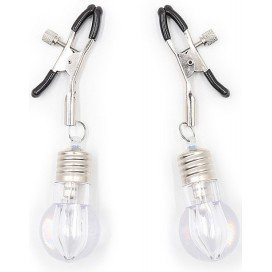 Pinces à tétons avec ampoule lumineuse