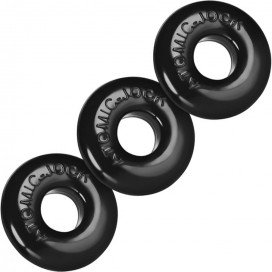 Pack de 3 mini cockrings Oxballs Noir