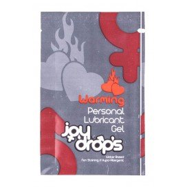 Joy Drops Lubrifiant Chauffant Warning - Dosette 5 ml