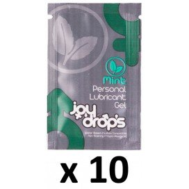 Joy Drops Lot de 10 dosettes Lubrifiant Arôme Menthe 5mL