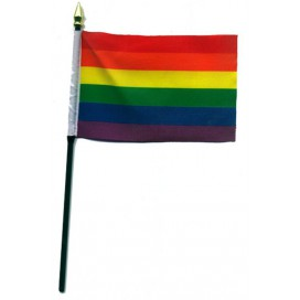 Pride Items Petit Drapeau Arc-en-ciel Gay 15 x 10 cm
