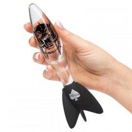 Sextoy en verre Bomber Transparent - 12.7 x 3.5 cm