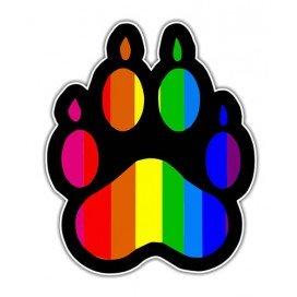 Autocollant Patte Rainbow