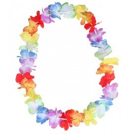 Collier avec Fleurs Rainbow