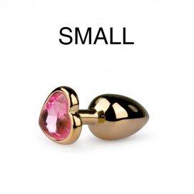 EasyToys Anal Collection Plug bijou Or en coeur - Small 6.3 x 2.6 cm