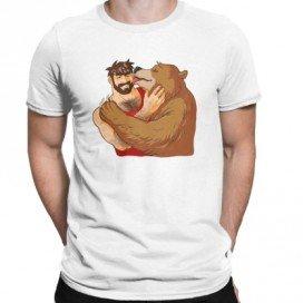 T-shirt Bear Smack blanc