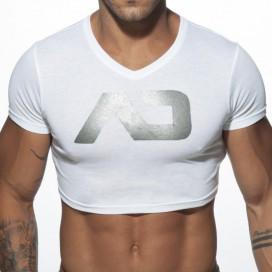 Addicted T-shirt Crop AD Blanc