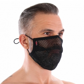 Sur-masque lavable Mesh plissé Noir