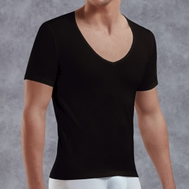 Doreanse T-shirt Col V Noir