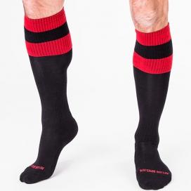 Chaussettes FOOTBALL SOCKS Noir-Rouge