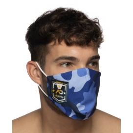 Addicted Masque en tissu CAMO SHIELD Bleu