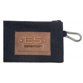 ES Collection Porte Monnaie avec mousqueton Denim
