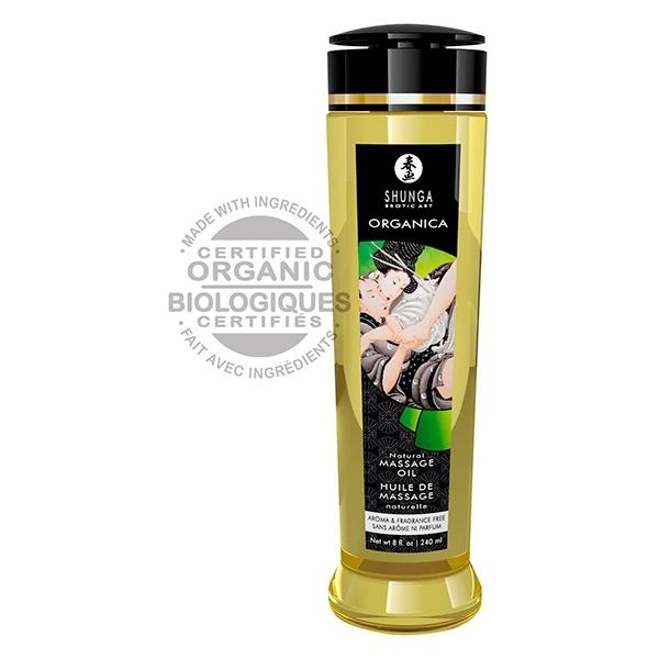 Huile de massage Bio NATURAL Sans Parfum 240mL