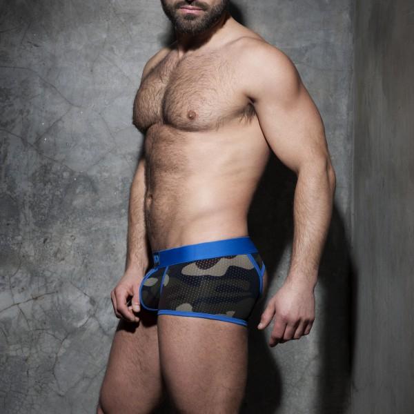 Jock Boxer Camo Stripe Fetish Bleu