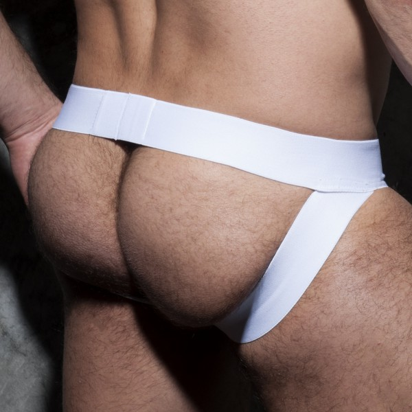 Jockstrap Camo Stripe Fetish Blanc