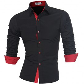 Chemise noire et rouge